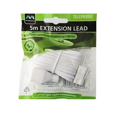 Telephone extension cable 5 meter white