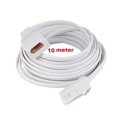 Telephone extension cable 10 meter white