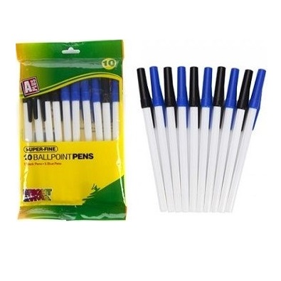 BALLPOINT PENS BLACK and BLUE 10 Pack