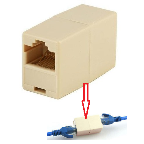 RJ45 Coupler Connector Joiner Extender For Cat5 5e Lan Ethernet Network