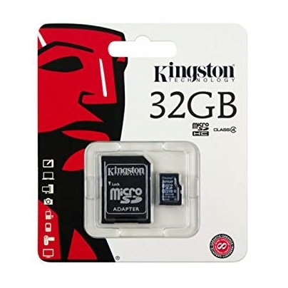 Micro SD HC Memory Card Kingston 32GB Class-4  for Mobile Phone Dashcam