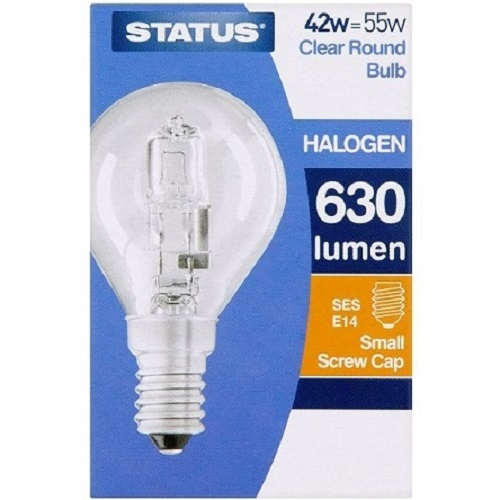 Status Halogen Light Bulb 42 Watt E14 Round