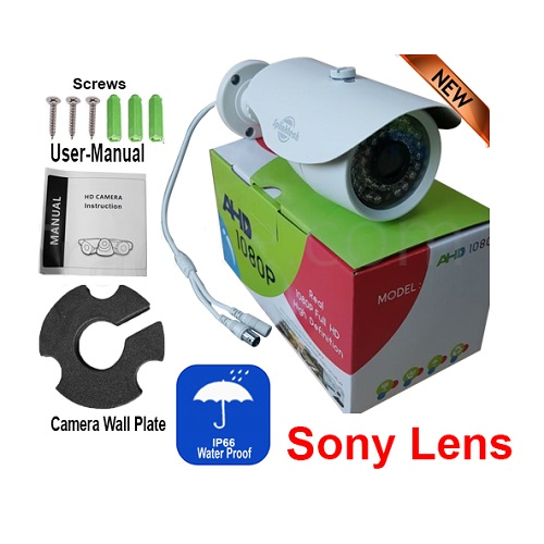 CCTV Bullet 1080p Camera 2.4MP Sony 128AHD NIGHT VISION WITH UTC FUNCTION