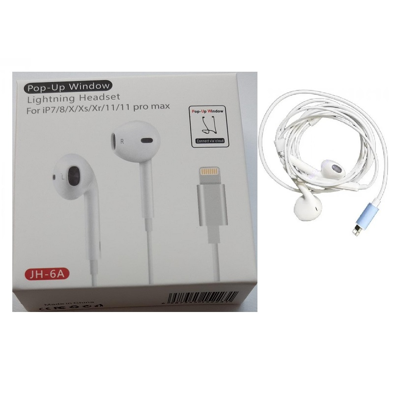 Earphone JH-6A Headset  with Connector Compatible with iPhone 7/8/X/XS/XR