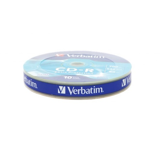 Verbatim 700MB CD-R Extra Protection Discs, 52x, 10 Pack Wrap Spindle