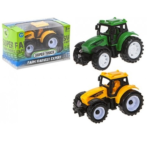 Toy Pull Back Farm Tractors 9cm