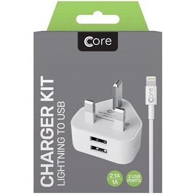 Dual USB Charger Kit for iphone lightning