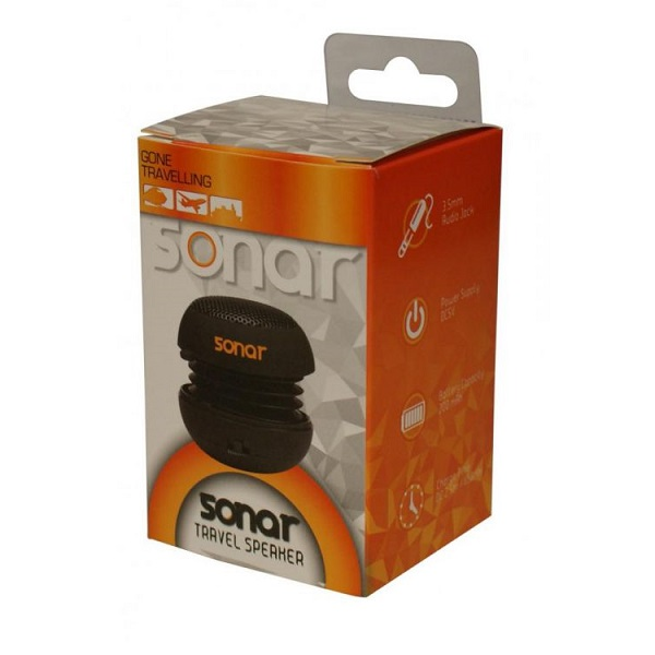 Speaker travel rechargeable Sonar black